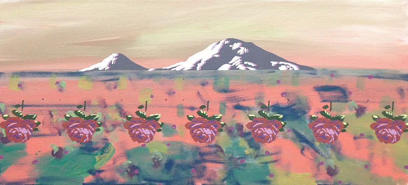 Roses № 7, oil on canvas, 45 x 100 cm, 2006