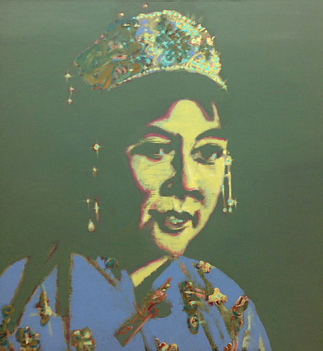 Oroqen woman (National minorities in China), oil on canvas, 140 x 130 cm, 2004