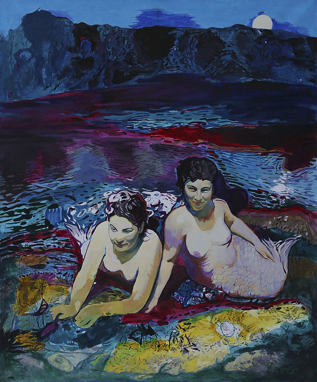 Night perversions, from the Amnesia series, oil and acrylic on canvas, 150 x 125 cm, 1998
