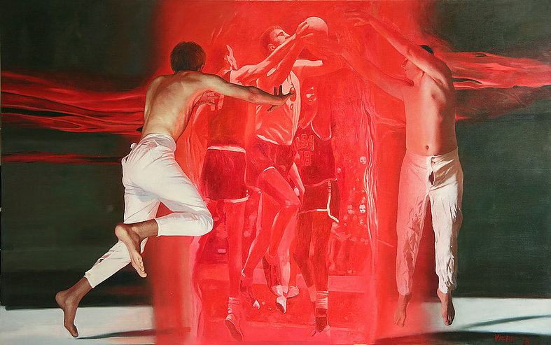 From the Reflection in an unknown series, oil on canvas, 300 х 190 cm, 2012